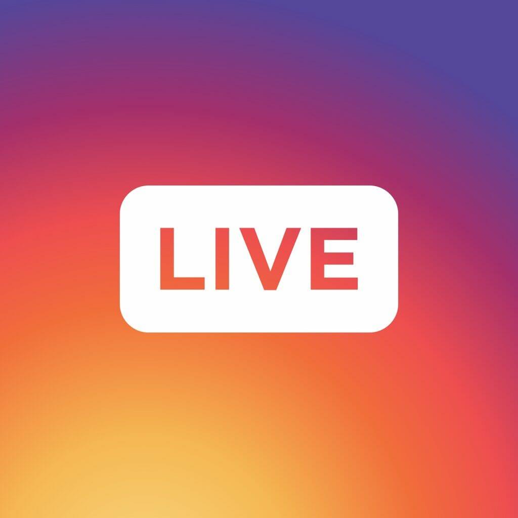 Instagram live button