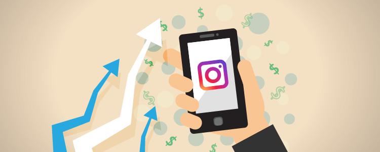 Growth on Instagram through adverts