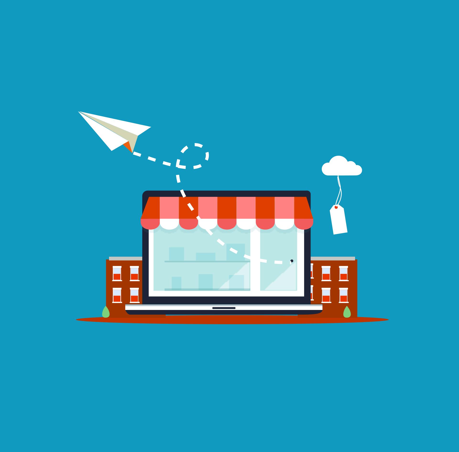 eCommerce laptop image