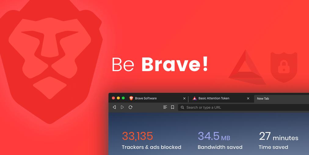 "Brave logo that says ""Be brave"""